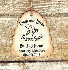 Custom listing for Joshua - Honey Favor Tags 100 CUSTOM BEE Personalized Handmade Tags-Wedding Wish Tags-Honey jar tags-Favor tags