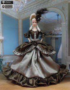 """Robe Barbie Marquise  """" Louise """" tenue  pour poupée Barbie fashionistas et…"""