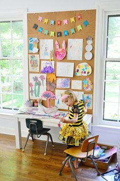 space for kids in the home office via @Sherry @ Young House Love