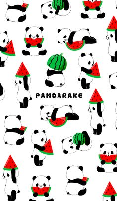 watermelon taste version of PANDARAKE. Please have the person who would like to be fun fine summer feeling by all means. Cute Panda Wallpaper, Bear Wallpaper, Kawaii Wallpaper, Disney Wallpaper, We Bare Bears Wallpapers, Panda Wallpapers, Cute Cartoon Wallpapers, Wallpaper Tumblr Lockscreen, Cute Wallpaper Backgrounds