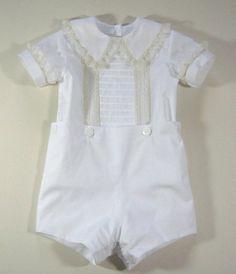 Reliquia Button-on traje de niños por dkreid en Etsy