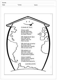 Atividades sobre meio ambiente para educação infantil – Planeta Terra Spanish Teaching Resources, Teaching Tools, Teaching Ideas, Preschool Worksheets, Preschool Activities, Eco Kids, Bilingual Classroom, Earth Day Activities, 4th Grade Reading