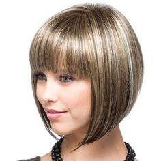 Banged Bob - Short female haircuts| http://www.olixe.com #hairstyle #shortyhair