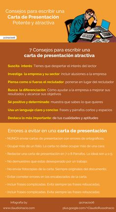Consejos para escribir una Carta de Presentación #infografia