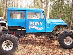 Pony Express by ruralinfo.net, via Flickr Pony Express, Going Postal, Jeep Truck, Rc Cars, New Toys, 4x4, Monster Trucks, Jeeps, Vehicles