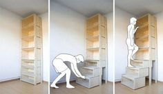 LOVE IT!!! wonder if it could be done in kitchen cabinets also? I hate not being able to fully use all the cupboard space!