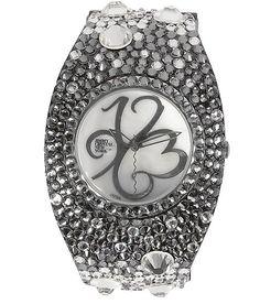 Jimmy Crystal Two-Tone Cuff Watch