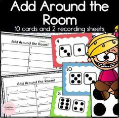 Add Around the Room Math Center for Kindergarten by Creative Kindergarten
