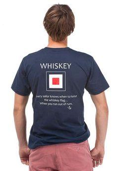 Whiskey flag tee...