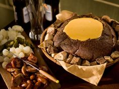 German Cheddar and Beer Fondue recipe from Rachael Ray via Food Network