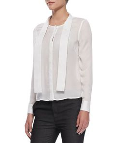 Ntalya Long-Sleeve Blouse by J Brand Ready to Wear at Neiman Marcus.