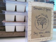 STRUDEL & SPICE Soy Wax Tarts Strudel and Spice by gracenotegifts, $3.50