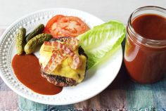 A low carb barbeque sauce with a bit of sass, this essential condiment hits the perfect flavor notes -- a little sweet, a little tangy, and a little spicy. Barbeque Sauce, Barbecue, Keto Sauces, Smoking Meat, Grilled Chicken, Eating Habits, Food Inspiration, Low Carb Recipes, Spicy