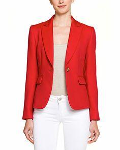 Tahari Rouge Red Blazer