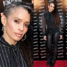 Lisa Bonet is rockin' the natural gray hair and looking good doing it!