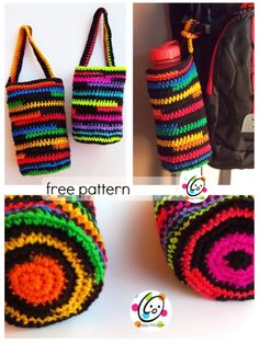 free crochet pattern ~ super stripes baggies