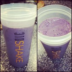 Delicious purple power drink! 1 scoop 310Shake vanilla mix, 1 cup ice, 1 cup blackberries/blueberries mixed, 1/2 banana, 1 cup Silk Vanilla light soymilk, blend for 30 seconds and enjoy a refreshing treat!