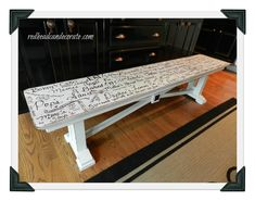 Doodled Bench - Redhead Can Decorate