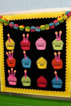 new Ideas birthday board preschool templates Preschool Birthday Board, Birthday Chart Classroom, Birthday Charts, Birthday Wall, Preschool Classroom, Preschool Crafts, Classroom Attendance, 20 Birthday, Classroom Door
