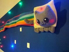 You're going to need your best negotiating skills if you want to convince your significant other to let you add your own Nyan Cat to the kids' room. This goes a bit deeper than just mou… Nyan Cat, Kitty Party, Pusheen, Stuffed Animal Patterns, Dinosaur Stuffed Animal, Cat Bedroom, Owning A Cat, Minecraft Crafts, Cat Wall
