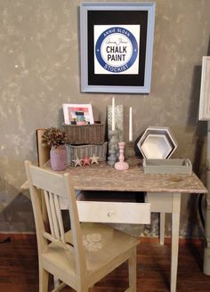Annie Sloan Chalk Paint, Vanity, Mirror, Painting, Furniture, Home Decor, Dressing Tables, Powder Room, Decoration Home
