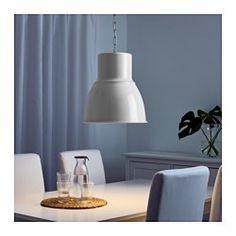 IKEA - HEKTAR, Lámpara de techo, blanco, 47 cm, , Esta lámpara emite una buena luz directa sobre la mesa y crea una agradable iluminación ambiental para cenar.