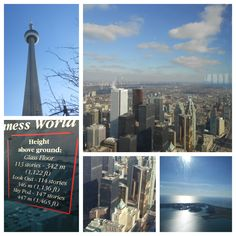 CN Tower: Top of the World! Glass Floor, Top Of The World, Cn Tower, Ontario, Toronto, Sky, Building, Travel, Heaven