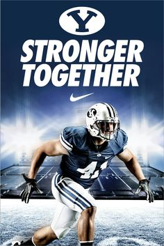 "Stronger Together - BYU Football. Design by Dave Broberg  - MormonFavorites.com  ""I cannot believe how many LDS resources I found... It's about time someone thought of this!""   - MormonFavorites.com"