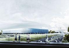 Znalezione obrazy dla zapytania gks katowice stadion projekt