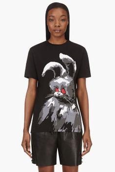 MCQ ALEXANDER MCQUEEN Black Undead Bunny Boyfriend T-Shirt
