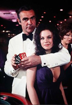 Photo: #JamesBond and Plenty O'Toole, Sean Connery & Lana Wood, Diamonds Are Forever, 1971.