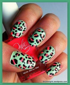spring leopard nails :)