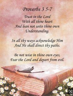 Prayer Scriptures, Bible Verses Quotes, Faith Quotes, Proverbs 3 5 7, Inspirational Verses, Christian Encouragement, Encouragement Scripture, Fear Of The Lord, Bible Truth