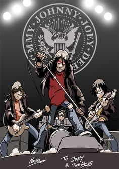 Ramones on Stage by NachoMon.deviantart.com on @deviantART