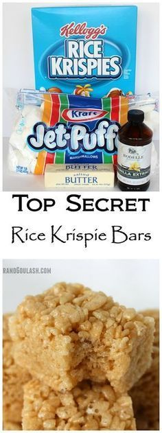 Rice Krispie Bars ever! Tried these for a potluck and I am never going bac Best Rice Krispie Bars ever! Tried these for a potluck and I am never going bac. -Best Rice Krispie Bars ever! Tried these for a potluck and I am never going bac. Köstliche Desserts, Delicious Desserts, Dessert Recipes, Yummy Food, Potluck Recipes, Popcorn Recipes, Yummy Eats, Dessert Bars, Rice Krispy Treats Recipe