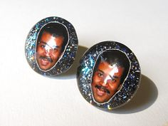 Neil deGrasse Tyson earrings Awesome Cosmos by TheGlitorisShop