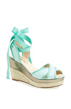 #SWEEPSENTRY Inspiration: A beautiful light summer dress to meet my husband pier side after his deployment. SJP 'Leslie' Sandal (Nordstrom Exclusive) available at #Nordstrom  - Adorable in Mint!