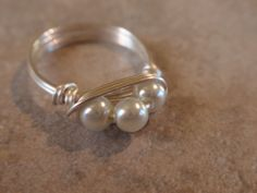 Peapod Ring and Pendant by jeannestiles on Etsy, $32.00