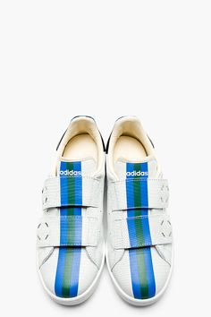 RAF SIMONS White Eteched Leather RAF SIMONS X ADIDAS Edition Low Top Sneakers