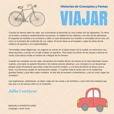 Historias de cronopios y famas. Julio Cortázar. https://lenguajeyotrasluces.wordpress.com/