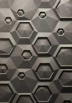 asymmetrical casading hexagon layout - Google Search