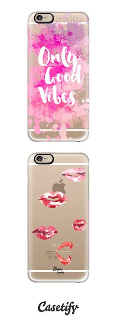 Only Good Vibes by Emanuela Carratoni and Lips by Lauren Taylor Creates in Classic Snapons | @casetify
