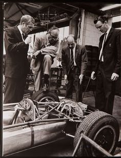 Moss and McQueen factory visit. 1963.