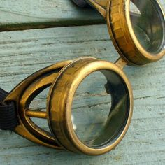 Steampunk Victorian Goggles Glasses D gold clear by umbrellalaboratory. $29.99. Attention ! Going out ? Convention or mission ? Looking for very special accessory ? We can help !  We present Steampunk Apocalyptic Cyber Goggles- Time Travel Crazy Scientist's Oculo-Vision Tool from our collection of mad scientist treasures. Our goggles are excellent for any starship captain or officer, troop ,men, women , children, all who plan to wear eye protection against any...