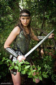 Blade Master Valkiriya in our Lady Warrior set  http://armstreet.com/store/armor/fantasy-stainless-full-womens-armor-set