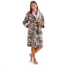 Women's Guide Gear® Camo Robe, Pink Camo