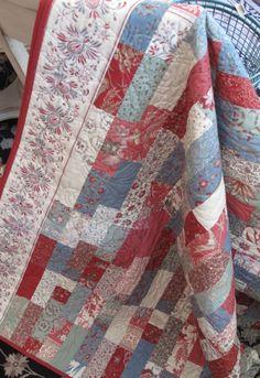 A pretty flower quilt
