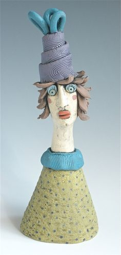 Clay Sculpture Female Woman Sculpted Figure by KimberlyRorick, $52.00