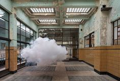 """Clouds in closed spaces: now it could be possible!  Dutch artist, Berndnaut Smilde produces striking images of 'real' clouds suspended within empty rooms.…"""