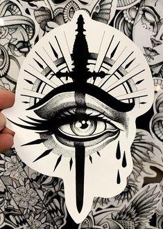 Dark Art Drawings, Tattoo Design Drawings, Tattoo Sleeve Designs, Tattoo Sketches, Sick Drawings, Evil Tattoos, Spooky Tattoos, 4 Tattoo, Dark Tattoo
